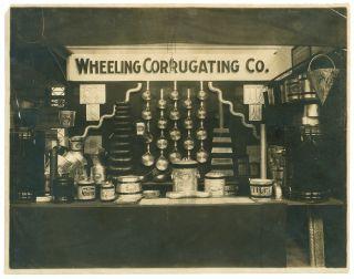 Wheeling Corrugating Co.  Metalware - Amazing Antique Photo Circa 1910 photo