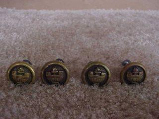 4 Vintage Brass Door Draw Cabinet Pull Handles Brass Bronze 1