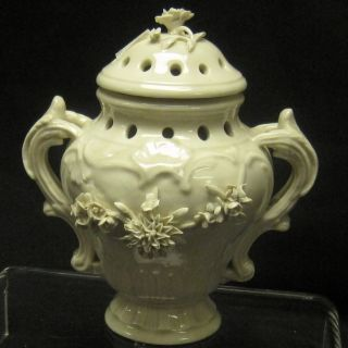 Antique French Pot Pourri White Faience Mennecy (?) photo