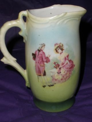 Antique Victorian Cream Pitcher Made In Made In Czecho - Slovakia 60+ Yrs Old Euc photo