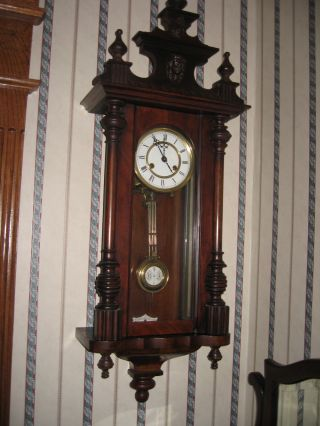 Antique Walnut Wall Clock - Marked Cb From The Black Forrest - Germany photo