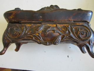 Antique Art Nouveau Bronze/brass Jewelry Box photo