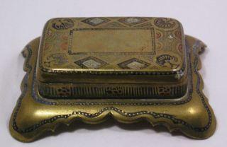 Vintage Or Antique Brass Box Q19 photo