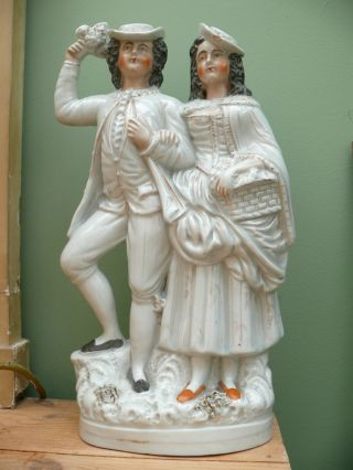 19thc Staffordshire Group Figurine By Thomas Parr photo