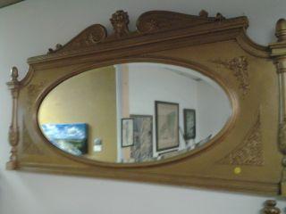 Antique Gold Mantel Mirror Cira 1890 To 1910 photo