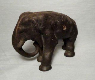 """Old Antique Cast Iron Elephant Doorstop 5"""" X 7"""" X 3"""" Door Stop photo"""