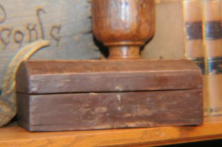 Antique 1840 ' S Dome Top Box.  Square Nail Construction.  1843 Ny Newspaper photo