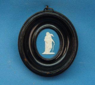 C1780s Wedgwood & Bentley Medicine God Serpent Staff Figure Jasperware Medallion photo