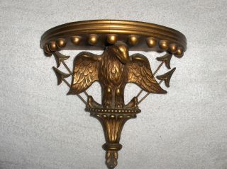 Antique Hanging Shelf Eagle Motif Colonial Revival Gilded photo