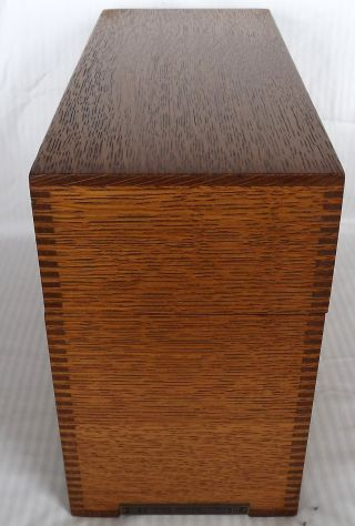 Vtg Circa Early 1900 ' S Box Jointed Library Bureau Makers Oak File Box/orig.  Hdwr photo