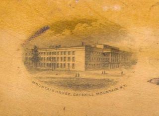 Mauchline Ware Mountain House Box 1st Hotel Catskill Mountains New York 1824  photo