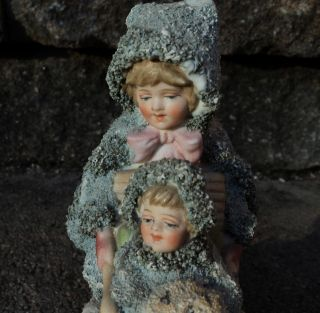 Galluba & Hofmann Blue Snow German Children With Sled Snowbaby photo