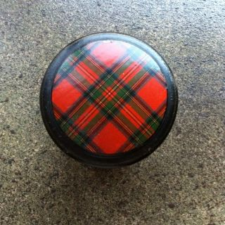 Tartan - Ware Lidded Box.  Red Stewart Tartan photo
