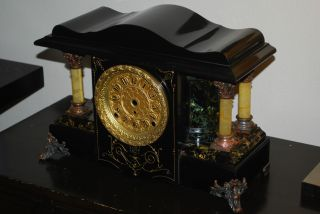 Seth Thomas Shasta Adamantine Mantle Clock Case,  Larkin Special,  Project photo