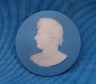 C1830s Wedgwood Jasperware George Iv Portrait Cameo Medallion photo