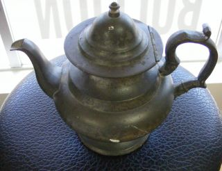 J Danforth American Pewter Tea Pot photo