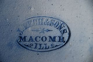 Rare Old 20 Gallon,  J.  Pech & Sons,  Macomb,  Ill Stone Ware,  Crock - photo