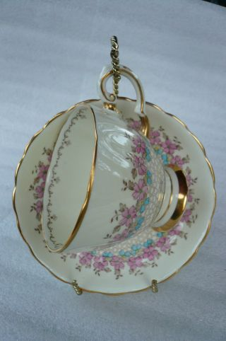 Vintage Plant Tuscan China Tea Cup And Saucer Registered photo