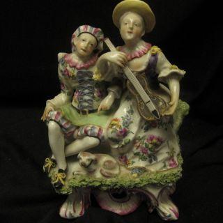 Antique English Soft Paste Porcelain Figure Bow (?) photo