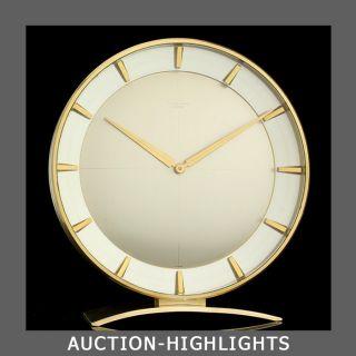 Art Deco Huge Junghans Meister Impressive 8 Days Desk Table Clock photo