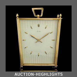 Outstanding German Art Deco Mauthe Chiming Desk Clock Kienzle Junghans photo