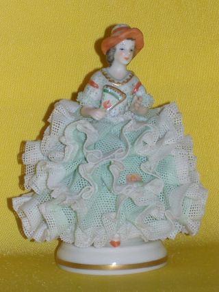 Volkstedt - Iri Shoresden Limited Lace Figurine Around 1930 photo