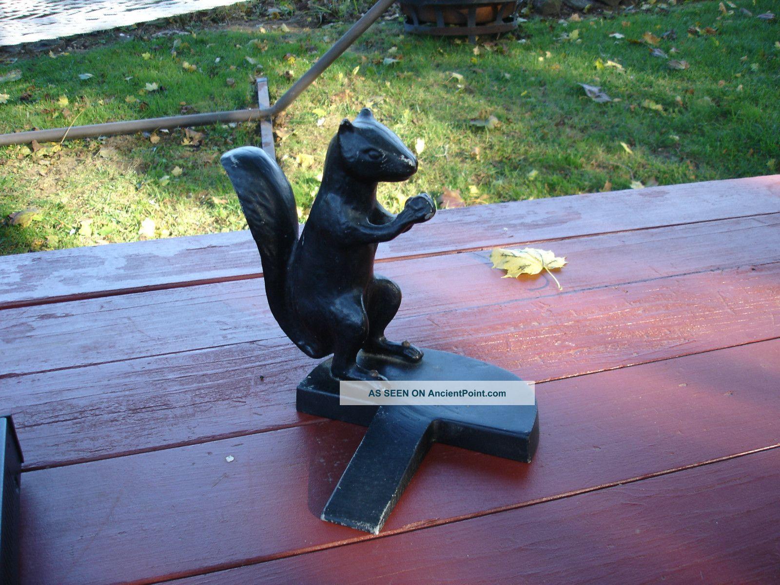 Cast aluminum vintage cake ideas and designs - Cast iron squirrel door stop ...