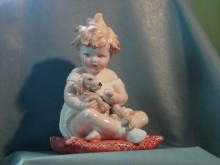 Vincenzo Bertolotti Piano Baby Girl Dog Nurse Italian Milano Italy Ceramiche photo