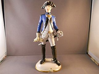 Nymphenburg Military Figure Bavarian Soldier Bayr Offizier Ceramic Figure photo