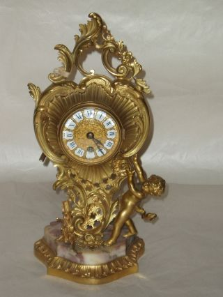 19th Century Henri Picard Bronze And Marble Clock photo