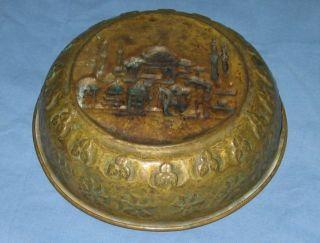 Antiq Turkish Ottoman Copper Hammam Bowl Hamam Tasi Bath Bowl Hagia Sophia photo