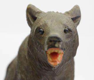 Carved Black Forest Bear Figure - Swiss/german Arts Crafts Mission Adirondack photo