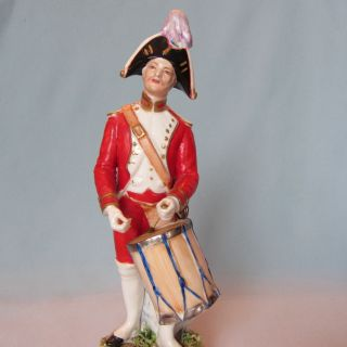 Fine Antique Capodimonte Italy Porcelain Fabris Military Soldier Man Figurine photo