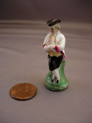 Miniature Staffordshire Figure Of A 18th Century Gentleman photo
