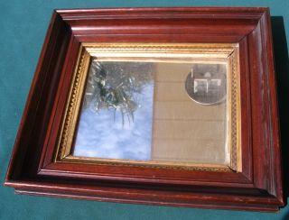 Antique Victorian Walnut Mirror Framed 19.  95 photo