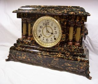 Antique Seth Thomas Adamantine Mantel Clock Dated 1900 Model ~ Czar ~ 3 Day List photo