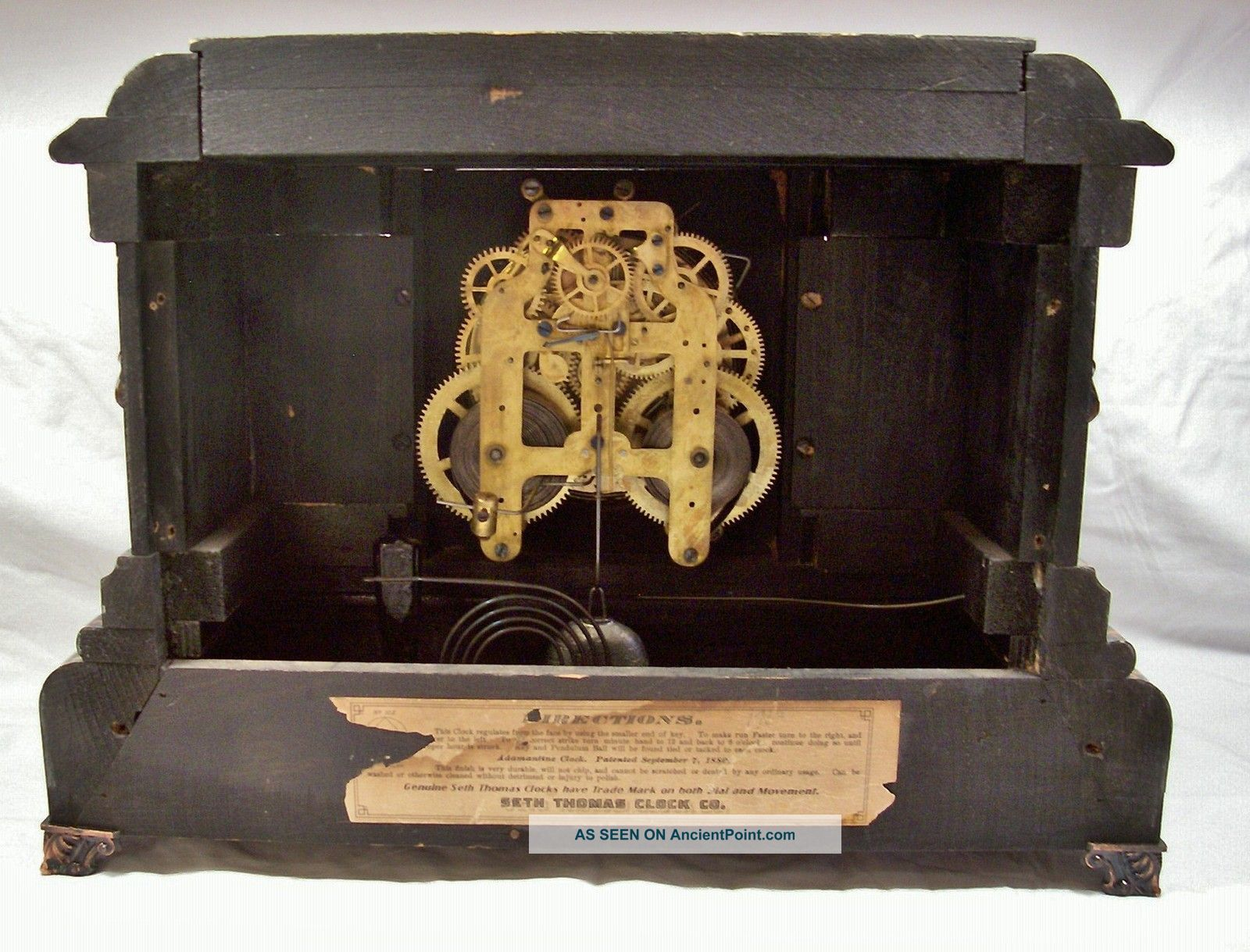 dating seth thomas adamantine mantel clock To identify a seth thomas mantel pendulum clock, determine the type of wood the clock is made of, analyze the clock's movements, and check for a decoration on the.