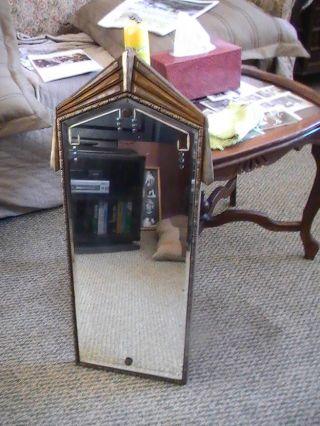 Antique Art Deco Mirror W/ Beveled Glass & Unique photo
