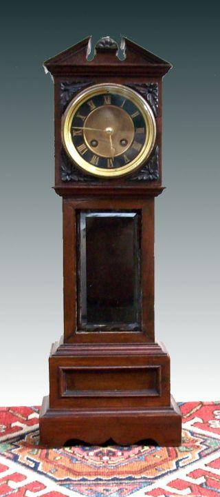 Miniature Victorian Mahogany Longcase Clock,  C.  1880 photo