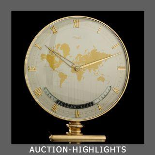 The Most Exclusive Kienzle Desk Table Clock Global World Clock Art Deco Icon photo