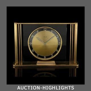 Purest Art Deco Translucent Mauthe 8 Days Table Desk Clock Kienzle Junghans photo