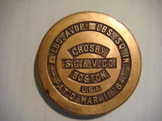 Vintage Brass Weights - Crosby 4 Pounds (n1) photo