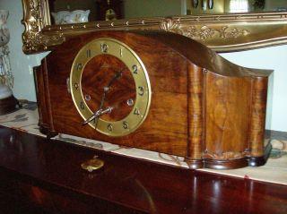 Antique Junghans Westminster Chime Mantel Clock Art Deco Works Fine photo