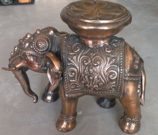 Large Antique Copper Elephant Given To Royalty Must See photo