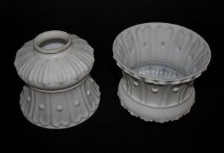 Matched Pair Art Nouveau Shades photo