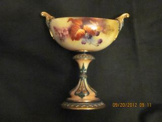 Antique Royal Doulton Hand Painted Compote photo