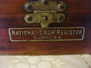 National Cash Register Wood Supply Box - Shape - L@@k photo