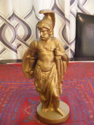 Roman Soldier Pot Metal Figurine Antique photo