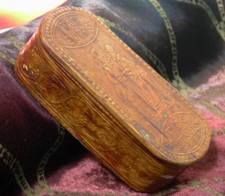 19th Century Swedish Pressed Birch Bark Snuff Box - 2 Gentlemen Share - Tag En Pris photo