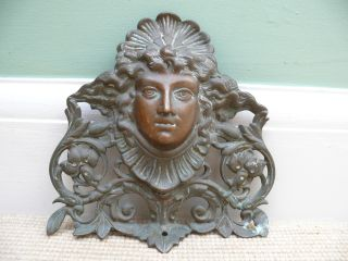 19th Bronze Art Nouveau Head Of Female photo